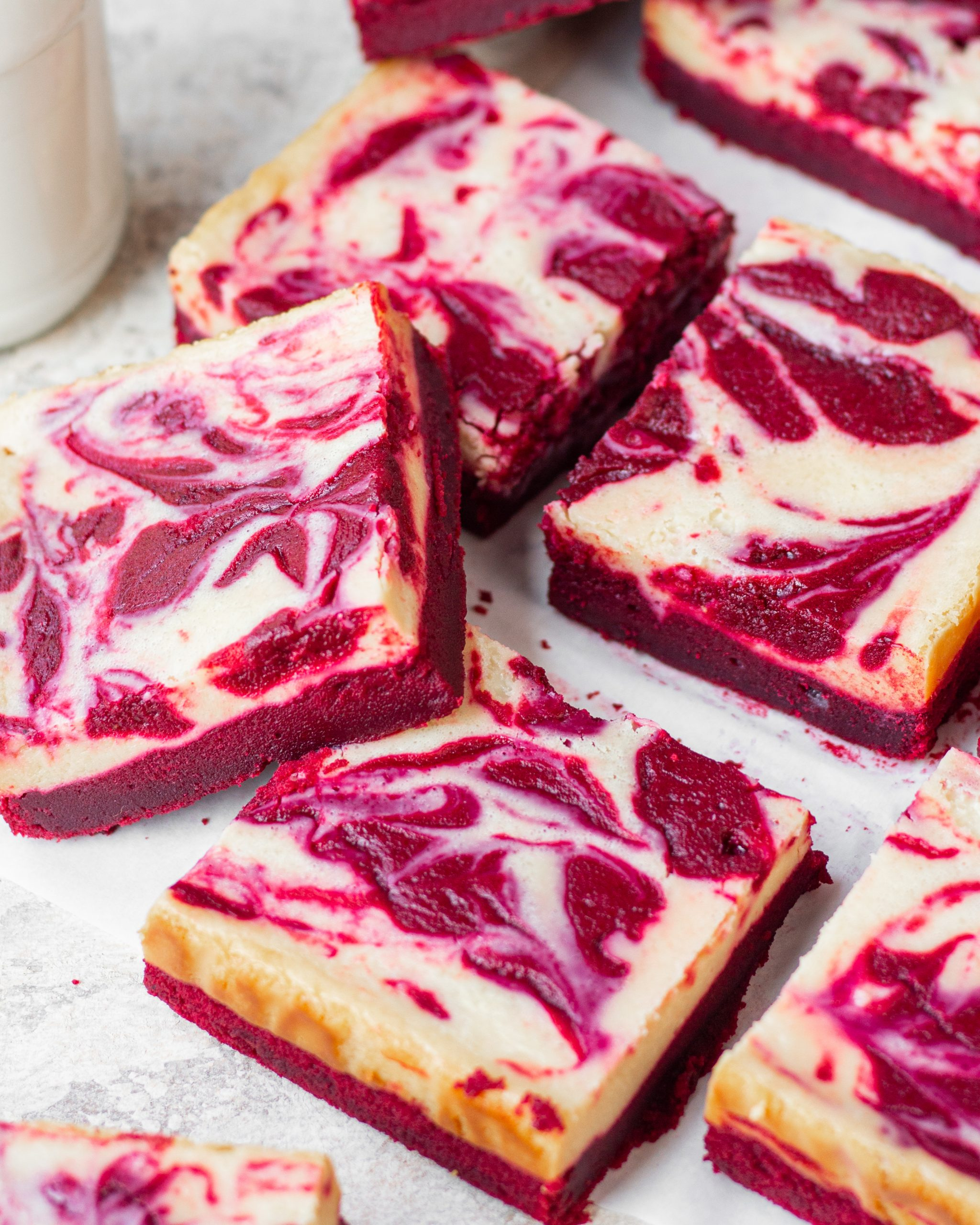 red velvet cheesecake brownies- eggless